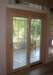 Wood Clad Door - sliding door interior view