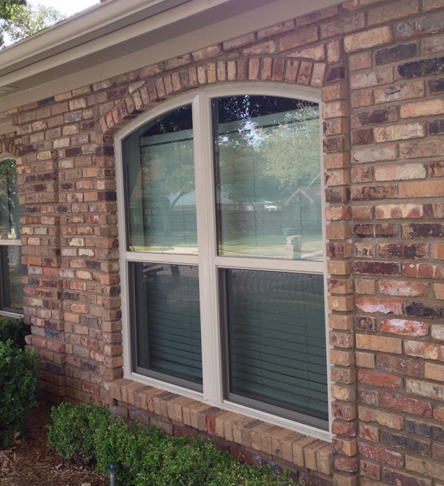 Arched Energy Master Vinyl Single Hung Windows in Arlington Texas by The Window Connection