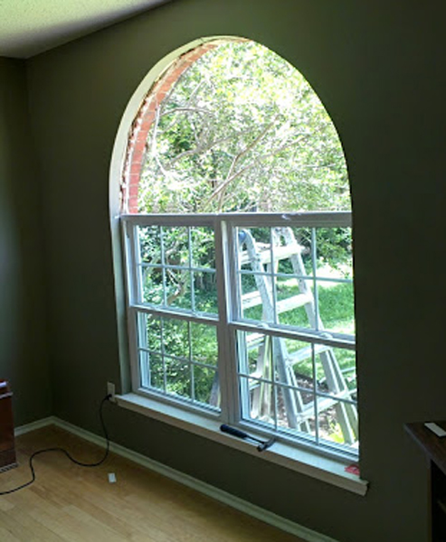 Vinyl Window Installation in Coppell using vinyl replacement windows to replace aluminum builders grade windows.