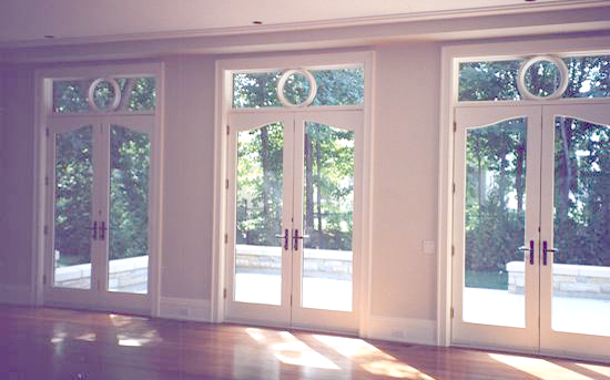 Eight Foot Full Glass French Doors