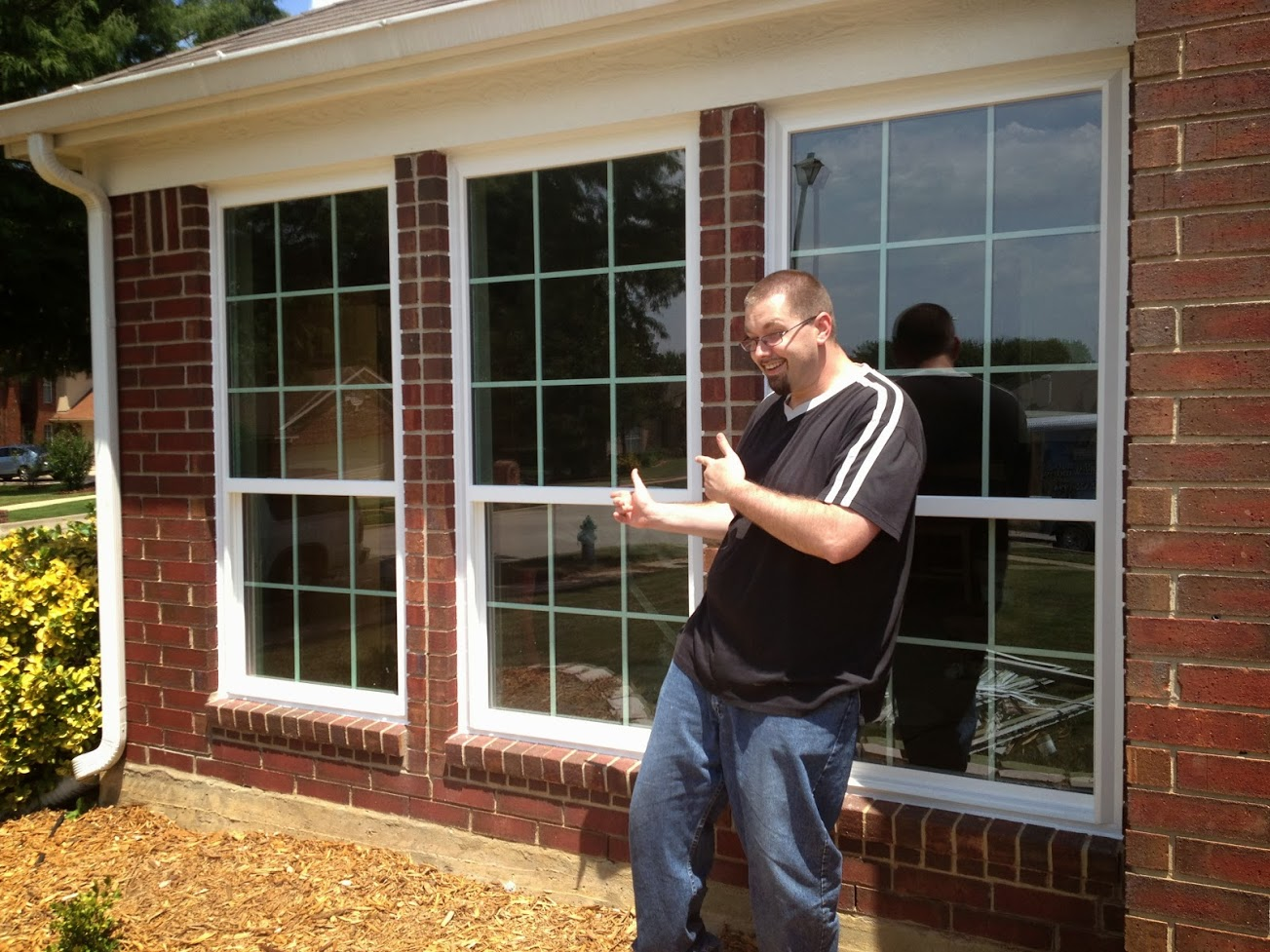 Single Hung Vinyl Windows with Grids