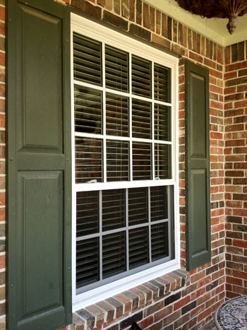 Replacement windows with full interior wood returns and installation with casing and new window sills.  See our Gallery for more pictures of how these returns are assembled.