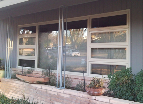Custom window installation with casements and picture windows