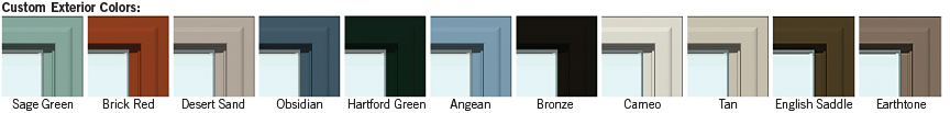 Vinyl window colors were white beige and sandstone or adobe until recently.