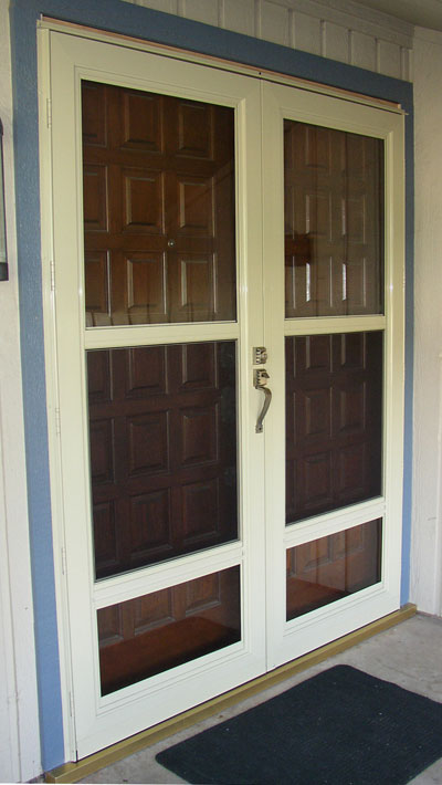 Operating Storm Doors in a french storm door configuration in Dallas
