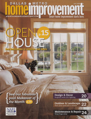 Dallas Home Improvement Magazine Article - Open House - New Innovations in Windows and Doors