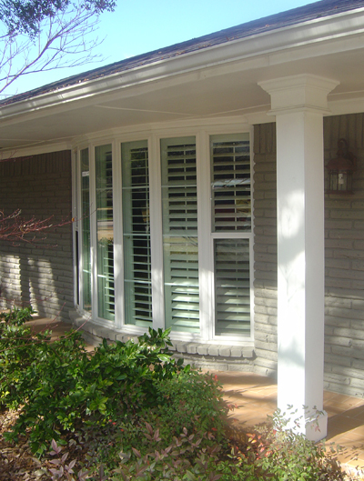 Vinyl Bay Replacement Windows.  Wood windows and fiberglass windows can't compare to the value of quality vinyl replacement windows.  These windows are available in multiple exterior colors.
