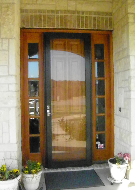 Full View Glass Eight Foot Storm Door for applications in Plano, Dallas, Frisco, Richardson, McKinney, The Colony and most North Texas locations.