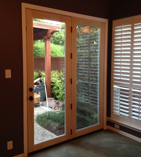 Wood French Doors are one of the most beautiful products out there. This one boasts three point locking hardware as well.