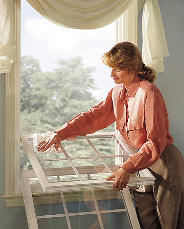 Modern Replacement Windows have one or more tilting sashes that allow you to clean the outside of the window from inside the home.  Double Hung Windows can ventilate with the top or bottom sash.